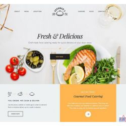 THE GOURMET: COOKING & CATERING WEBSITE